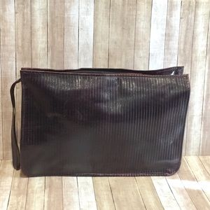 Vintage Cordovan Leather Clutch